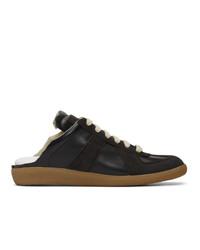 Maison Margiela Black Backless Replica Sneakers