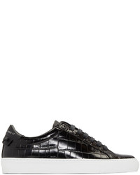 Givenchy Black Croc Embossed Urban Knots Sneakers