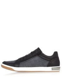 River Island Black Croc Leather Sneakers