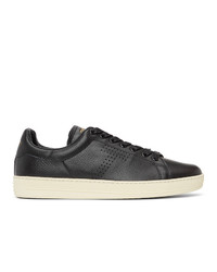 Tom Ford Black Ed Leather Warwick Sneakers