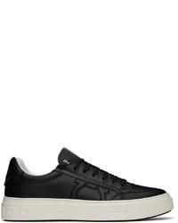 Salvatore Ferragamo Black Gancini Sneakers