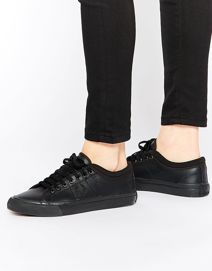 Fred Perry Black Kendrick Leather