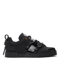 Dolce and Gabbana Black Portofino Sneakers