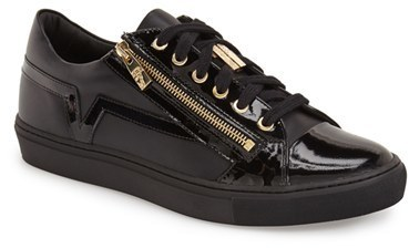 $475, Versace Collection Side Zip Low Top Sneaker