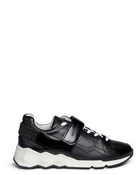 Pierre Hardy Comet Camouflage Cube Print Leather Sneakers