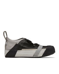 Boris Bidjan Saberi Grey And Black Bamba2 Sneakers