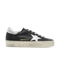 Golden Goose Deluxe Brand Hi Star Distressed Leather Sneakers