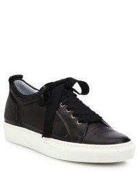 Lanvin High Frequency Leather Low Top Sneakers