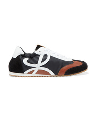 Loewe Leather Suede And Shell Sneakers
