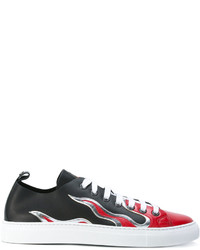 DSQUARED2 Low Top Flame Sneakers