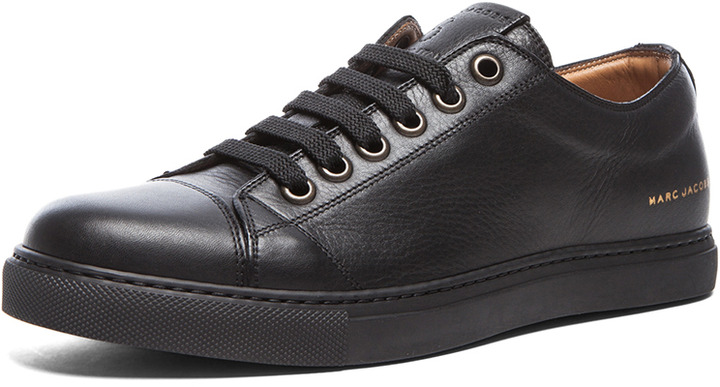 23650858d1dd ... Marc Jacobs Low Top Leather Sneakers In Black ...