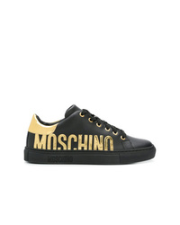 Moschino Metallic Logo Sneakers