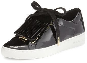 e9387ed6a8cc ... MICHAEL Michael Kors Michl Michl Kors Keaton Kiltie Faux Patent Sneaker  Black ...