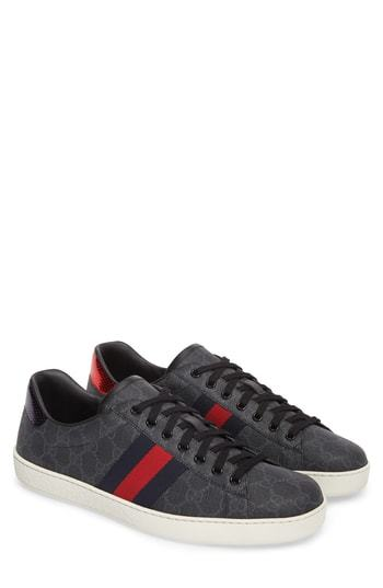 ecb40357ab8 ... Gucci New Ace Webbed Low Top Sneaker