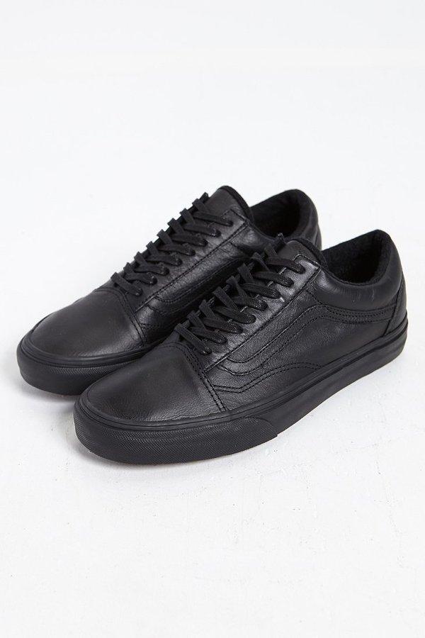 vans old skool black black leather