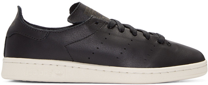 great deals classic styles well known $130, adidas Originals Black Stan Smith Lea Sock Sneakers