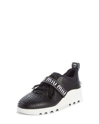 Miu Miu Perforated Platform Sneaker
