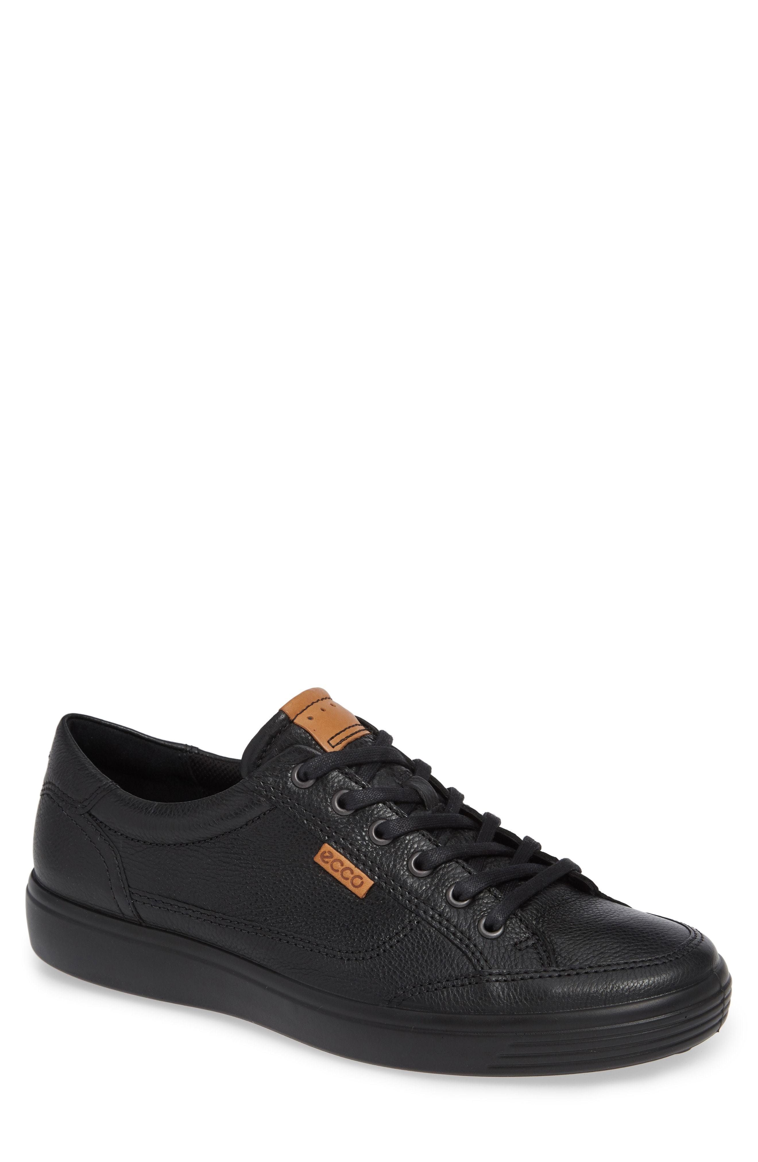 7f5c5cf806090 ... Black Leather Low Top Sneakers Ecco Soft 7 Sneaker