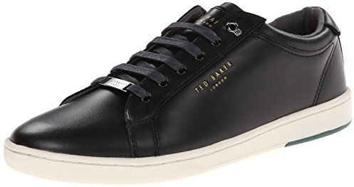 02bd97f73047 Theeyo Fashion Sneaker. Black Leather Low Top Sneakers by Ted Baker