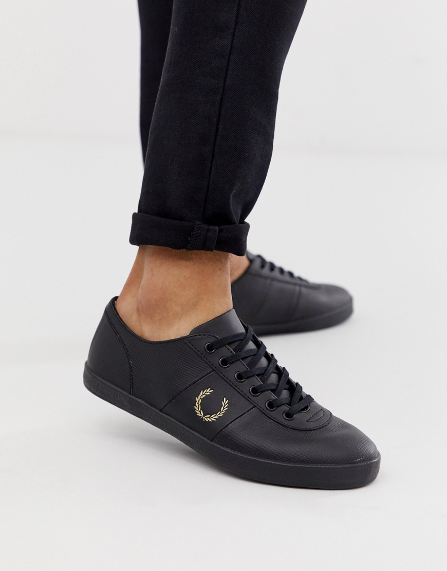 X Miles Kane Leather Trainers In Black