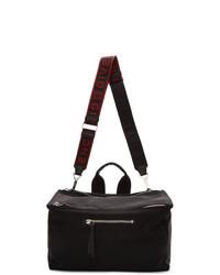 Givenchy Black And Red Twill Pandora Messenger Bag