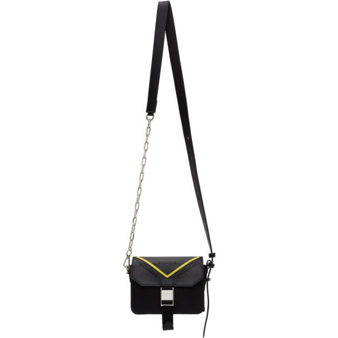 Givenchy Black And Yellow Paris Bond Messenger Bag
