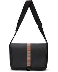 Paul Smith Black Signature Stripe Messenger Bag