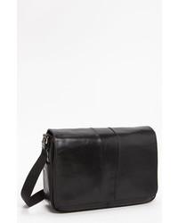 Bosca Leather Messenger Bag Black One Size