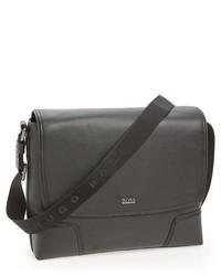 Hugo Boss Boss Marmle Buffalo Leather Messenger Bag