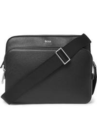Hugo Boss Cross Grain Leather Messenger Bag