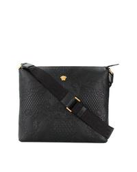 Versace Embossed Messenger Bag