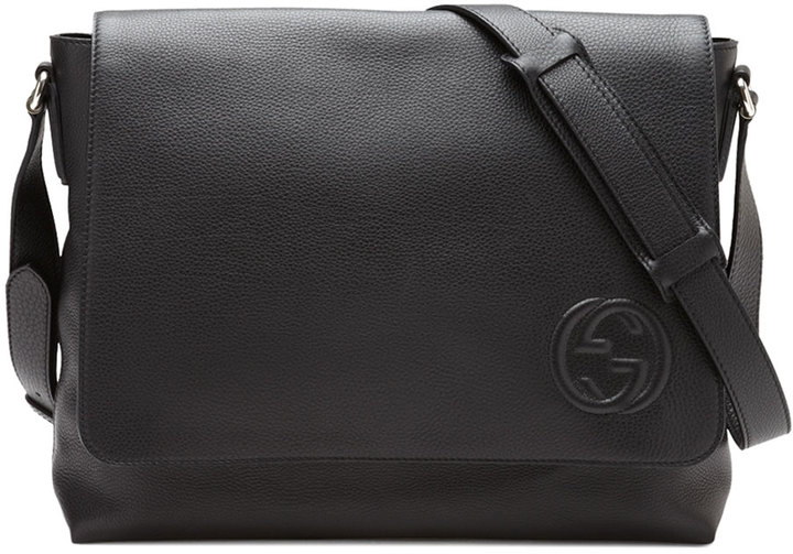 Gucci Soho Men S Leather Messenger Bag Black