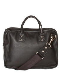 Will Leather Goods Hank Satchel Brown