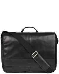 Wilsons Leather Italian Leather Messenger Black