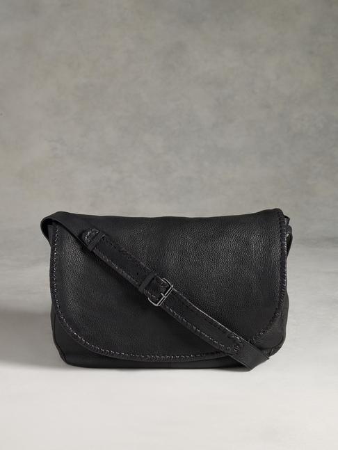 John Varvatos Leather Messenger Bag