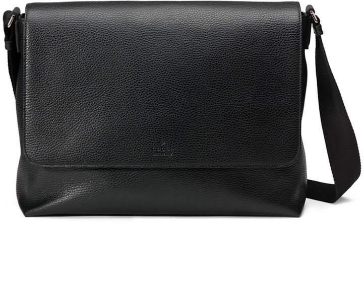 e47630dab Gucci Leather Medium Flap Messenger Bag Black, $1,350 | Neiman ...