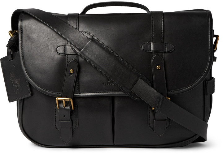 ... Black Leather Messenger Bags Polo Ralph Lauren Leather Messenger Bag ... 2b2b295d438c2
