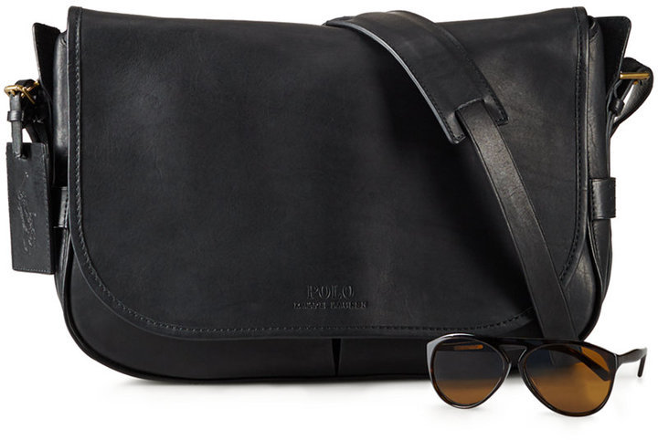Polo Ralph Lauren Leather Messenger Bag