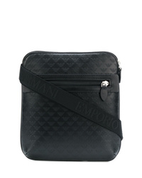 Emporio Armani Logo Embossed Messenger Bag