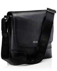 Hugo Boss Madras Leather Messenger Bag