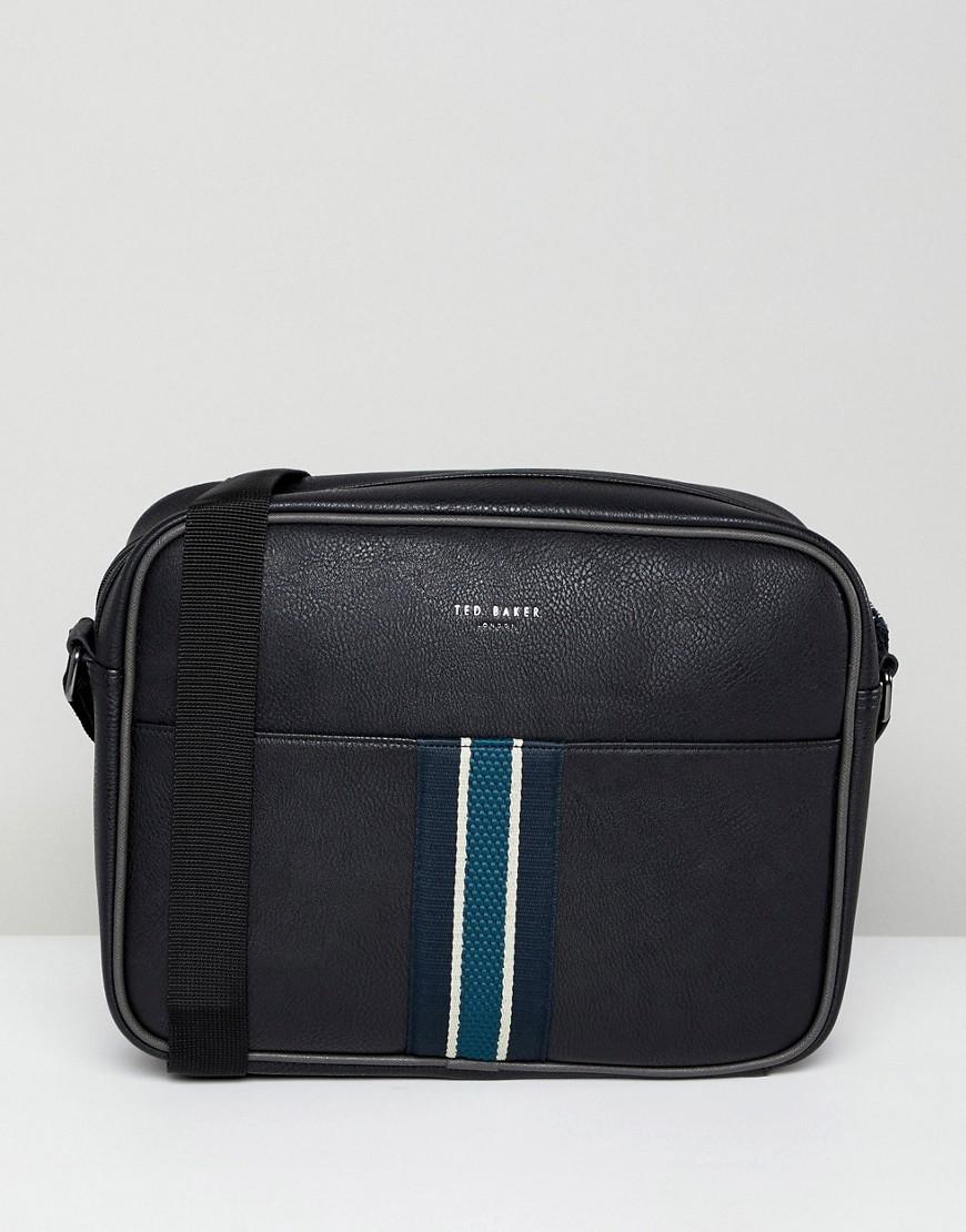 Oxbridge Webbing Messenger Bag. Black Leather Messenger Bag by Ted Baker 96fa4d593a139