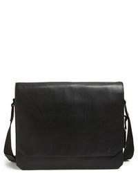 Vince Camuto Tolve Leather Messenger Bag Black