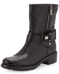 Aquatalia Sami Crisscross Buckled Mid Calf Boot