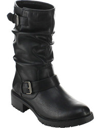 Beston Pace 01 Black Faux Leather Boots