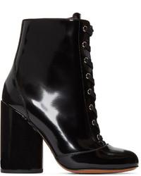 Marc Jacobs Black Lace Up Tori Boots