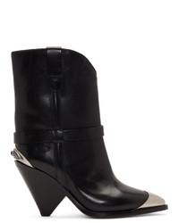 Isabel Marant Black Lamsy Boots