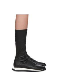 Rick Owens Black Runner Sneaker Boots
