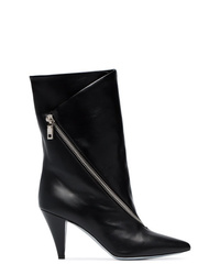 Givenchy Black Zip Detail 80 Leather Ankle Boots