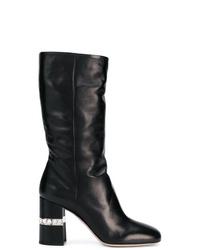 Miu Miu Crystal Embellished Knee Boots