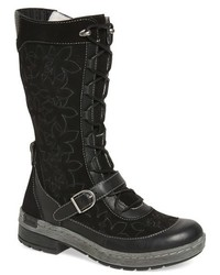 Hawthorn embroidered mid calf water resistant boot medium 793122